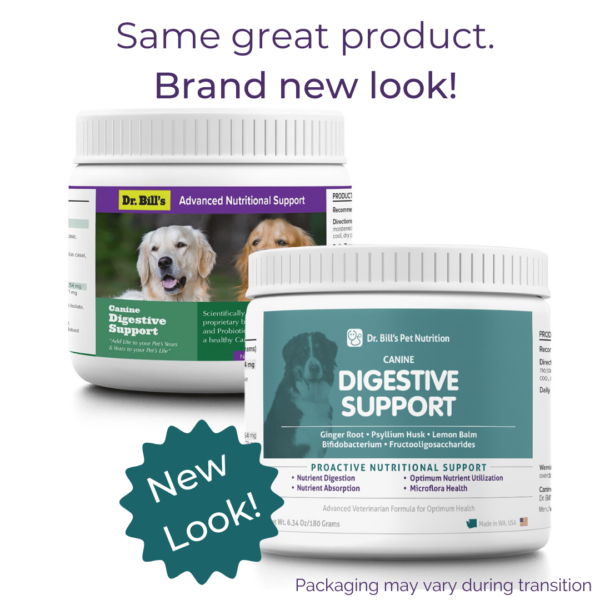 Canine Digestive Support Packaging