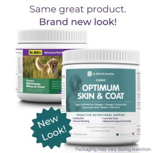 Canine Optimum Skin and Coat Packaging
