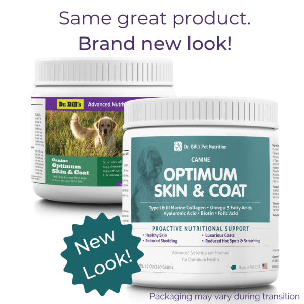 Canine Optimum Skin and Coat Packaging