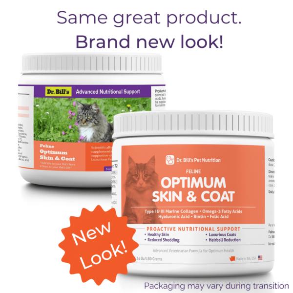 Feline Optimum Skin and Coat Packaging